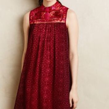 Amara Swing Dress by Niki Mahajan Red Motif