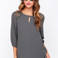 Touch and Flow Grey Top