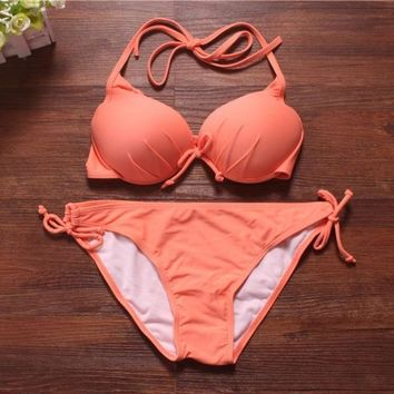 Women Neon Push Up Swimwear Vintage Swimsuit Bikinis Set Top And Bottom = 1955894724