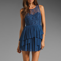 keepsake Until the End of Times Dress in Royal from REVOLVEclothing.com