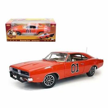 1969 Dodge Charger Dukes Of Hazzard General Lee 1/18 Diecast Car Model by Autoworld