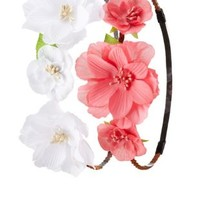 White Combo Braided Flower Crowns - 2 Pack by Charlotte Russe