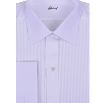 Brioni Pleated Tux Shirt