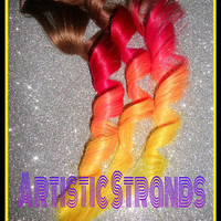 Two (2) Clip In Ombre Hair Extension / You choose your colors/ Ombre or Solids /Real Remy Hair / Double Wefted for Thickness