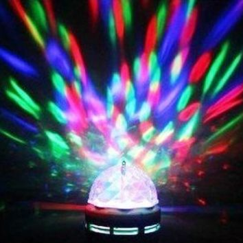 Lightahead® LA005 Rotating LED Strobe Bulb Multi changing Color Crystal Stage Light