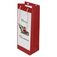 Christmas Santa Red Wine Gift Bag by Janz