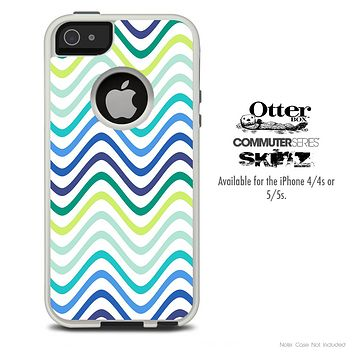 The Fun Colored Swirl Pattern Skin For The iPhone 4-4s or 5-5s Otterbox Commuter Case