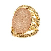 Caged Oval Stone Ring: Charlotte Russe