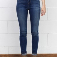 Hi-Rise Super Stretch Skinny Jeans {Medium Dark}
