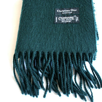 Christian Dior Monsieur Forest Green Scarf