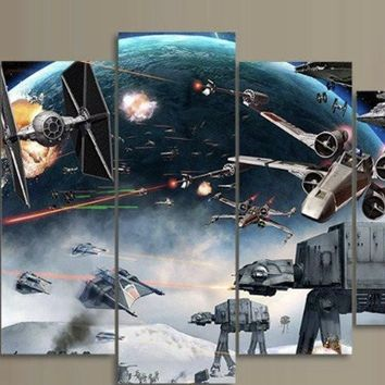 """Star Wars"" Art 5 Panel Canvas for ManCave Wall Art"