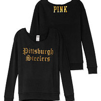 Pittsburgh Steelers Slouchy Crew - PINK - Victoria's Secret