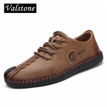 Best vintage mens leather shoes products on wanelo valstone genuine leather casual shoes men full handmade vintage shoes lace up natural rubber bottom zapato publicscrutiny Choice Image