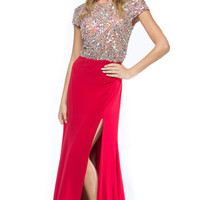 KC14109 Cap Sleeve Jeweled Evening Gown by Kari Chang Couture