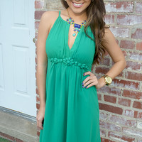 Carry Me Away Dress: Green