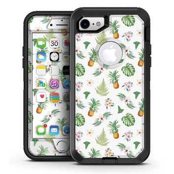 The Tropical Pineapple and Floral Pattern - iPhone 7 or 7 Plus OtterBox Defender Case Skin Decal Kit