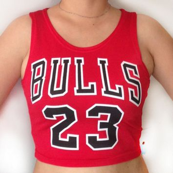 Solid color printing letters BULLS 23