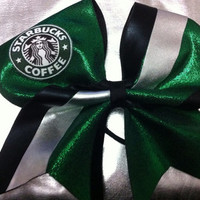 "3"" Cheer Bow-Starbucks"