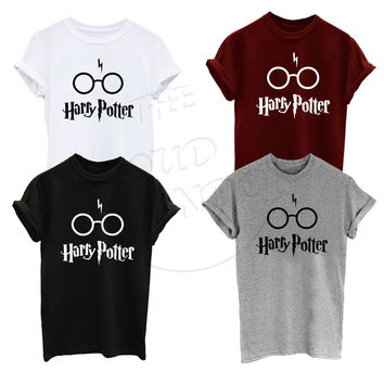 Harry potter with Glass Funny Humour Super Premium T-Shirt