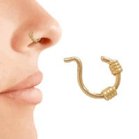 14kt Gold Filled Coil Nose Ring Gold Nose Hoop Earring Piercing Ring Piercing Hoop Body Piercing Jewelry Body Jewelry Trending Jewelry