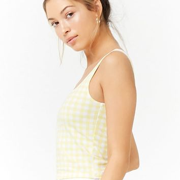 Gingham Knit Top