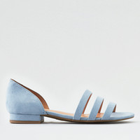 AE STRAPPY PEEP TOE FLAT, Blue