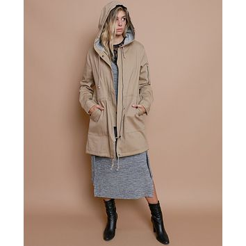 Bundling Up Utility Coat - Khaki