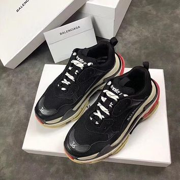 Balenciaga Men's Leather Triple S 1.0 Sneakers Shoes