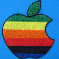 Big Sew-on Patch Rainbow APPLE 8 inch