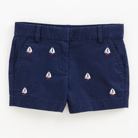 Girls Shorts: Sailboat Embroidered Shorts for Girls – Vineyard Vines