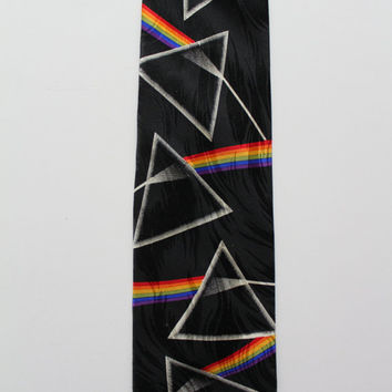 Vintage Pink Floyd Dark Side of the Moon Ralph Marlin Necktie 1994