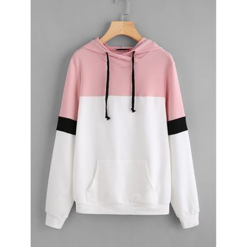 Pocket Front Cut And Sew Hoodie