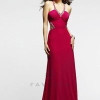 Style: 7348 - Prom Dresses - Cut-Outs - Lipstick -