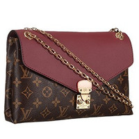 Louis Vuitton Pallas Chain Bag Dark Red 608252