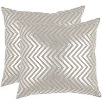 Elle Pillows - Set of 2 - Silver Pillows - Accent Pillows - Toss Pillows - Couch Pillows - Decorative Pillow | HomeDecorators.com