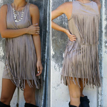 Fashion Tassel sleeveless dress-1
