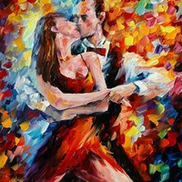 IN THE RHYTHM OF TANGO 2 — Palette knife Oil Painting on Canvas by Leonid Afremov - Size 24x30. 10% discount coupon - deviantart10off