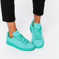 Adidas | adidas Originals Stan Super Colour Shock Mint Trainers at ASOS