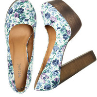 Floral Wood Platform - Teen Clothing by Wet Seal