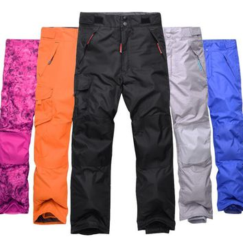 Children Winter Warm Breathable Waterproof Windproof Snowboard Pant Pantalones Snowboard Hombre Candy Color Outdoor Ski Pant