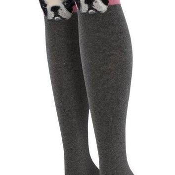 French Bulldog Women's Over The Knee Thigh High Socks