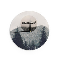 "Robin Dickinson ""Wanderlust"" Gray Black Wall Clock"