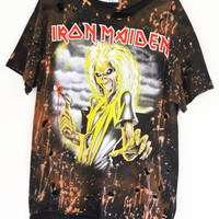Iron Maiden killers starry sky Bleached/Distressed Band Tee S-XL UNISEX vintage bleach