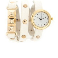 Wrapped Pyramid Stud Watch: Charlotte Russe