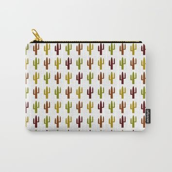 Cactus 2 design, Vector Carry-All Pouch by Claude Gariepy