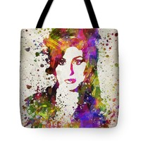 "Amy Winehouse in Color Tote Bag for Sale by Aged Pixel (18"" x 18"")"