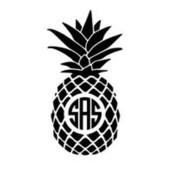 Pineapple decal small and Med/Large