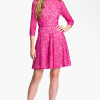 French Connection 'Fast Iris' Lace Fit & Flare Dress | Nordstrom