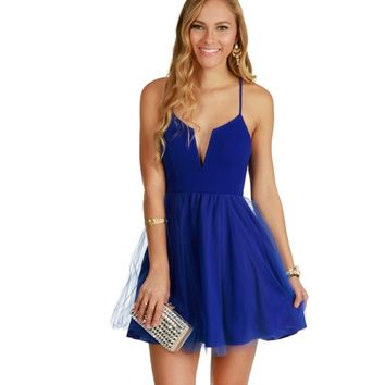Royal Feel It Dress