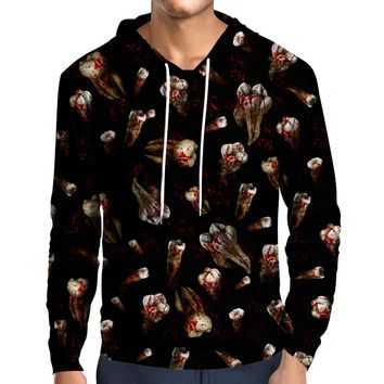 Teeth With Blood Hoodie